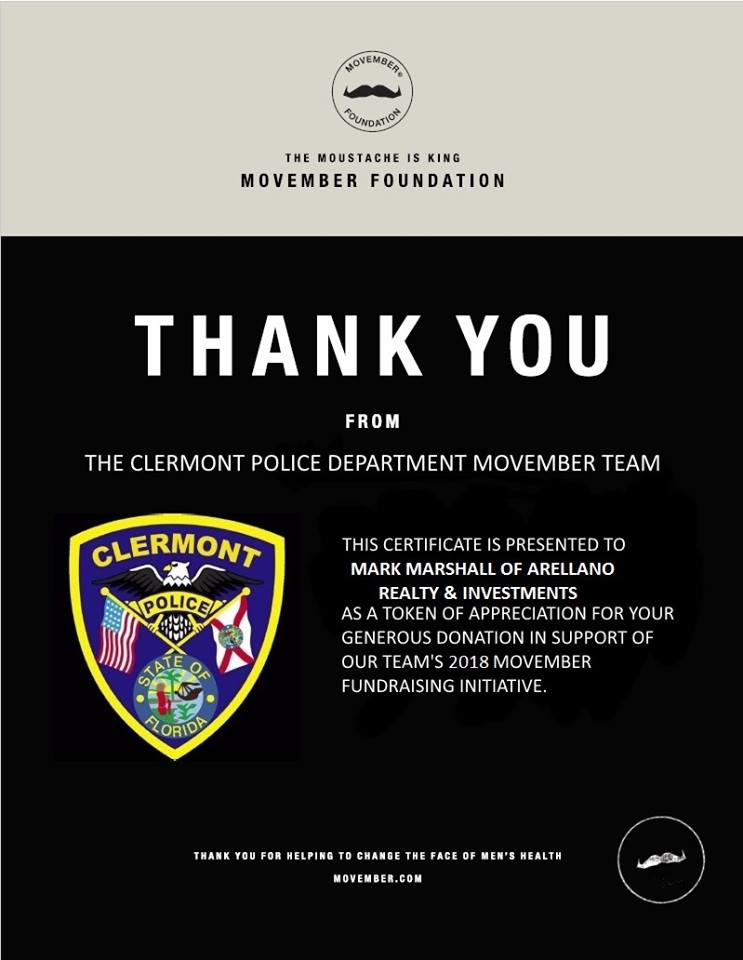Clermont Police Department Continuing Movember Through the