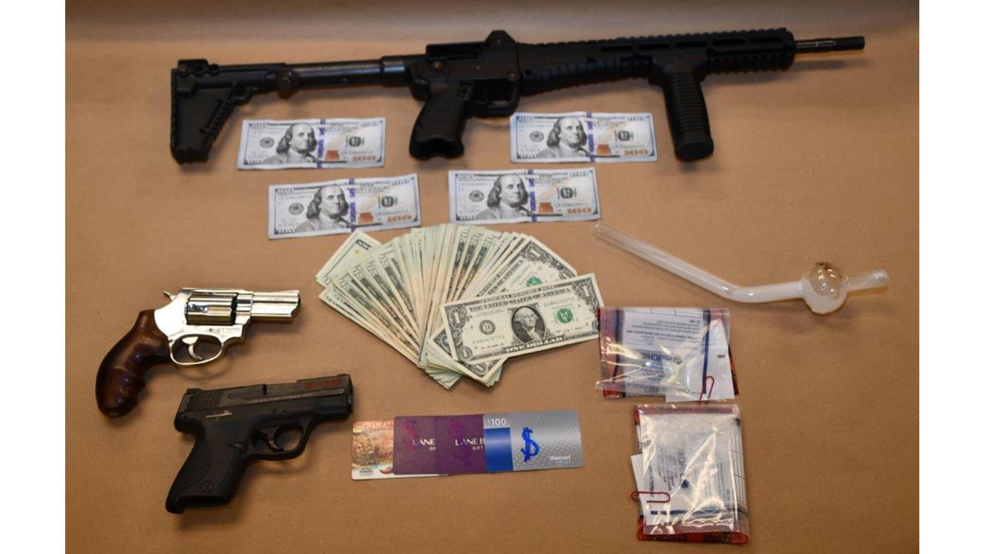 Clermont Police Arrest Mascotte Man with Guns, a Stolen Car, Drugs